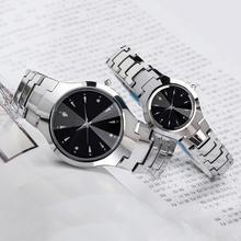 Повседневные парные часы для женщин и мужчин с круглым циферблатом и календарем, аналоговые кварцевые наручные часы с ремешком, женские часы