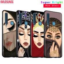 Black Silicone Cover Arabic Hijab Girl Queen for Samsung Galaxy A8S A9 A7 2018 A8 A6 Plus A5 A3 Star 2018 2017 Phone Case black silicone cover cute girlfriend bff for samsung galaxy a8s a9 a7 2018 a8 a6 plus a5 a3 star 2018 2017 phone case