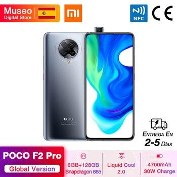 Перейти на Алиэкспресс и купить Глобальная версия Xiaomi POCO F2 Pro POCOPHONE F2 Pro 5G смартфон 6 ГБ 128 ГБ Snapdragon 865 64 мп Quad Cam 6,67 ''4700 мАч 30 Вт NFC