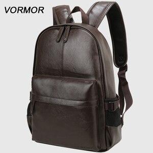Бренд VORMOR 2020, водонепроницаемый рюкзак для ноутбука 14 дюймов, мужские кожаные рюкзаки для подростков, мужские повседневные рюкзаки mochila