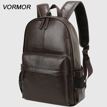2020 VORMOR Brand waterproof 14 inch laptop backpack men leather backpacks for teenager Men Casual Daypacks mochila male