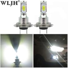 2x Canbus Livre de Erros Led H7 WLJH Fog Light Bulb Auto Motor Car Truck Driving Daytime Running Luz H7 LEVOU lâmpadas 12V 24V para Carros