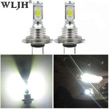 WLJH 2x Canbus Error Free Led H7 Fog Light Bulb Auto Car Motor Truck Driving Daytime Running Light H7 LED Bulbs 12V 24V for Cars