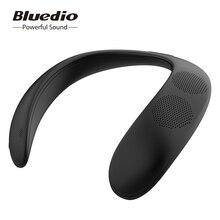 業bluedio hs bluetoothスピーカーコラムネック マウントワイヤレススピーカーポータブル低音bluetooth 5.0 fmラジオサポートsdカードスロット