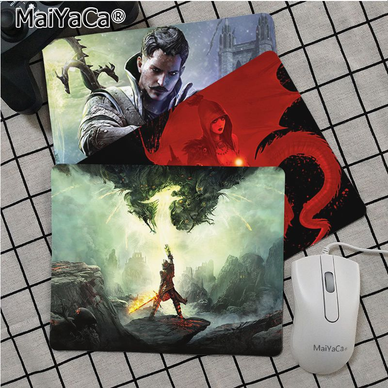 MaiYaCa Top Quality Dragon Age Inquisition Silicone Pad To Mouse Game Top Selling Wholesale Gaming Pad Mouse
