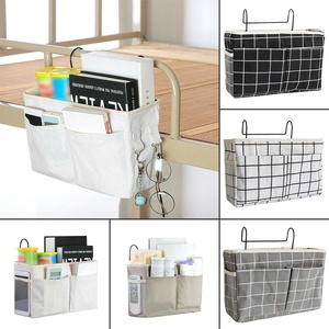 Bedside Storage Organizer Dorm Room Phone Book Magazine Storage Bag Holder With Hook Remote Caddy Bunk Bed Pocket Save Space