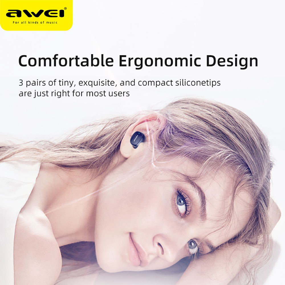 lowest price AWEI T13 TWS HiFi Sport Earbuds Bluetooth 5 0 True Wireless Stereo Headphone Fast Pairing Touch Sensor Siri Music Earphone