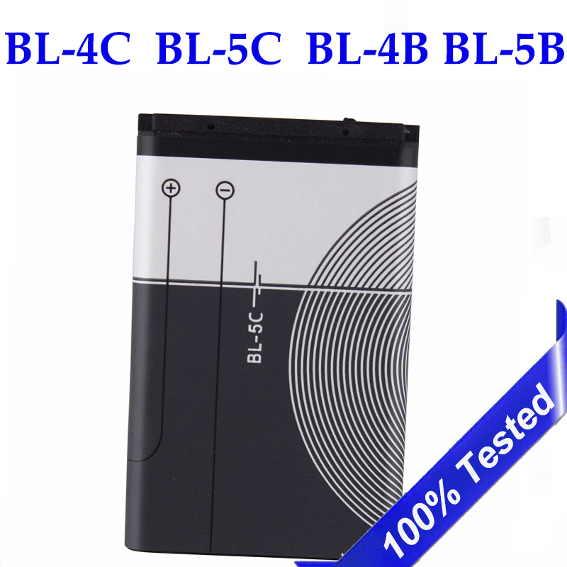 BL-5C BL-4C BL-4B Battery For Nokia  BL 5C BL5C BL-5B 6100 6260 6300 6136S 5070 2630 C2-01 1110i BL 4C Mobile Phone Batteries