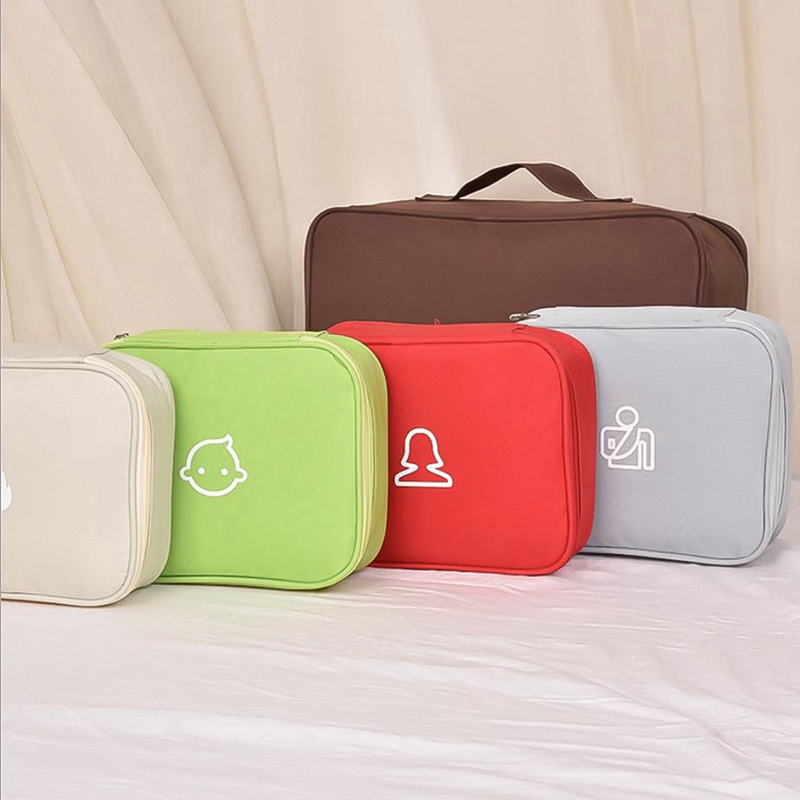 Cute Portable Outdoor Medicine Bag First Aid Kit Home Office Medical Emergency Kits Organizer Household High Capacity Pill Bag