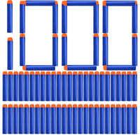 1000/400/300/200/100 Uds sólido azul cabeza redonda balas de 7,2 cm para Nerf Series Blasters recarga dardos Niños Accesorios para pistola de juguete