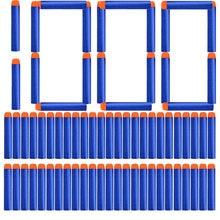 1000/400/300/200/100 pezzi proiettili a testa tonda blu solido 7.2cm per blaster serie Nerf ricarica freccette accessori per pistola giocattolo per bambini