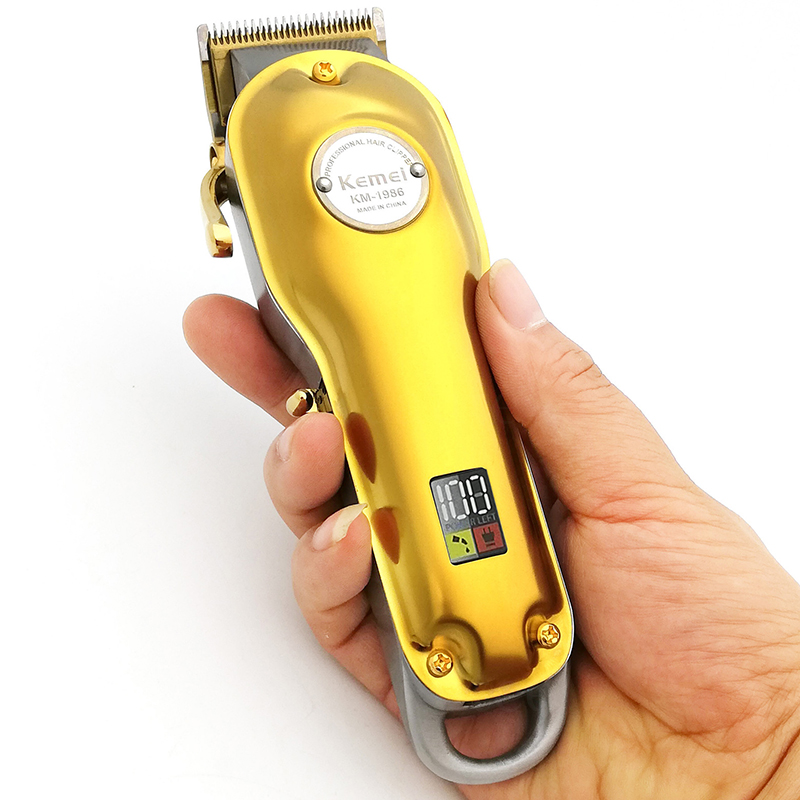 Powerful Kemei Adjustable Blade Hair Clipper Kemel Digital Cuter Kamei Male Trimer Mans Design Kemey Heare Cutting Kmei Hear Cut