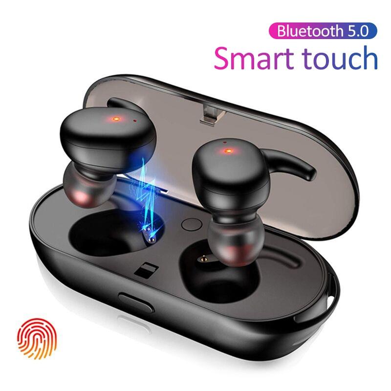 TKEY TWS Wireless Bluetooth Earphone Sport Portable Wireless Bluetooth 5.0 Touch Earbuds 3D Stereo Sound Headset With Microphone