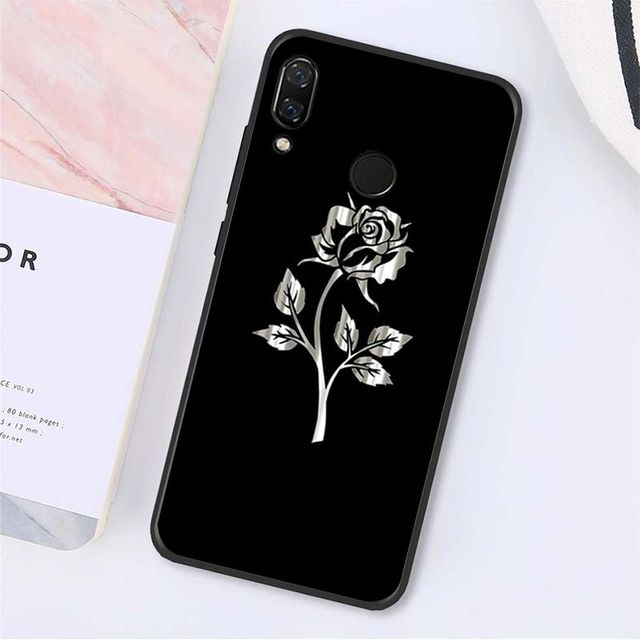 Yinuoda beautiful black white Rose flower Phone Case for Xiaomi Redmi Note8 7 8Pro 5 5A Note8T 6Pro 6A S2 4X 7 7A