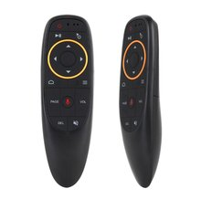 G10 Control de voz Air Mouse 2,4 GHz MICRÓFONO INALÁMBRICO Control remoto IR aprendizaje giroscopio de 6 ejes para TV Box PC/100 Uds(China)