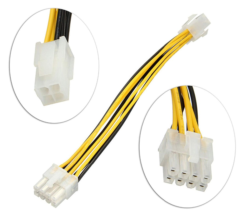 4 <font><b>Pin</b></font> Male to <font><b>8</b></font> <font><b>Pin</b></font> Female ATX EPS Power Cable Cord <font><b>Adapter</b></font> <font><b>CPU</b></font> Power Supply Cable image