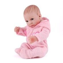 Volle körper Silikon Rebron Baby Puppen mädchen Neugeborenen Baby 10 zoll Realistische Prinzessin 25 cm Kinder Spielkameraden Baby Mode DIY spielzeug