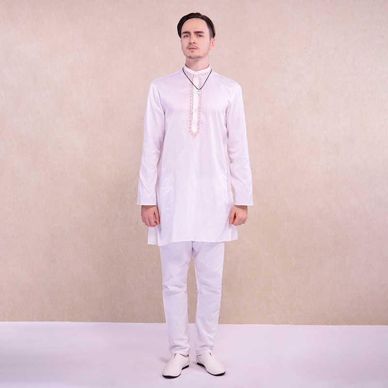 Ropa India Para Hombre Kurtis Estilo Etnico Camisa Blanca Pantalones Ropa Hindu Hombre Kurta De Algodon Ropa De India Y Pakistan Aliexpress