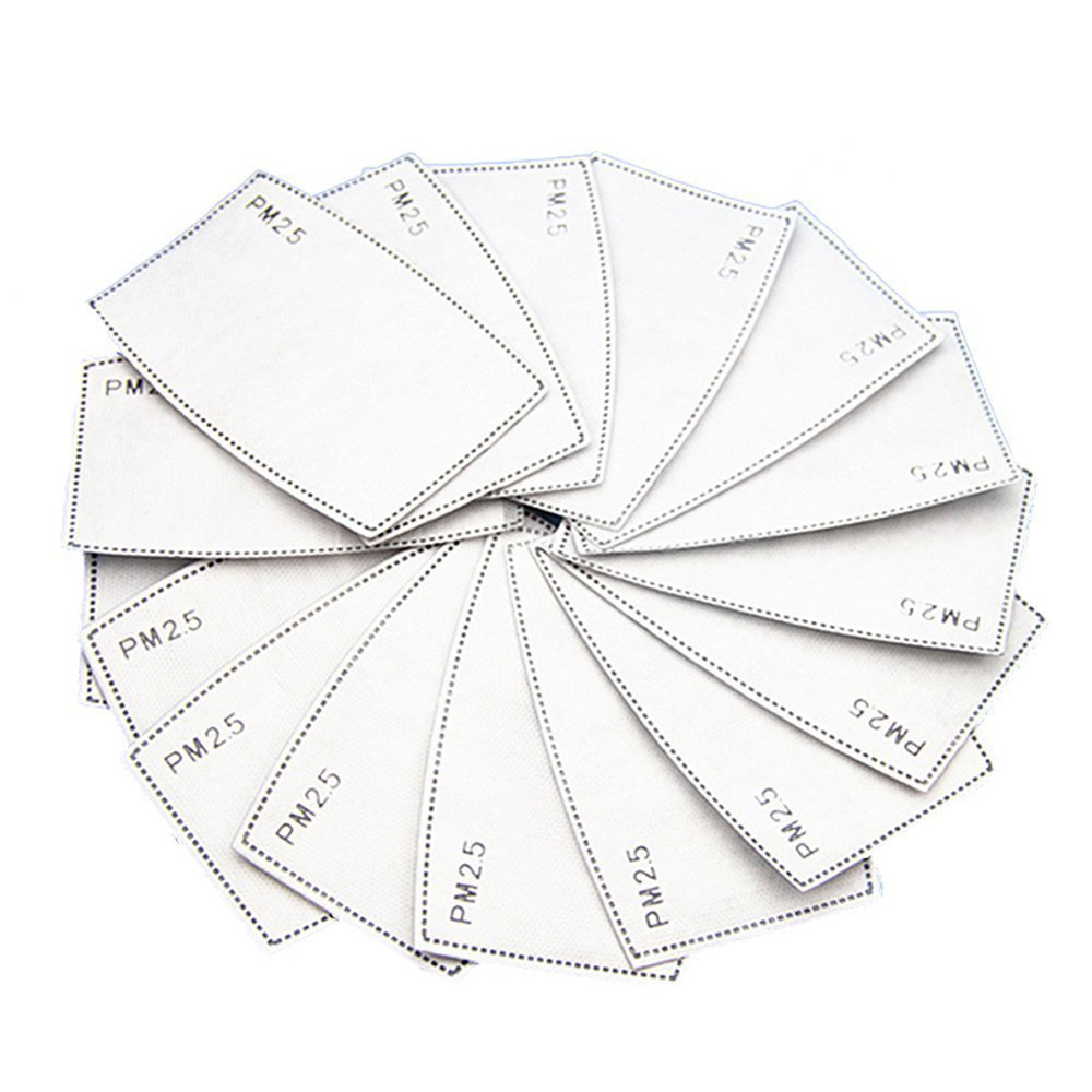 10pcs Real Stock ! PM2.5 Filter Paper Anti Haze Mouth Mask Anti Dust Mask Activated Carbon Filter Paper Health Care Mask Gasket