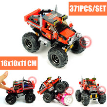MOC Super Big Foot Car Off-road Adventure Fit Legoings Technic Car Truck Building Blocks Bricks Diy Toys for Children Kids Gift legoing technic series 42069 2050pcs ultimate extreme adventure car toys for children gift 20057 building blocks set