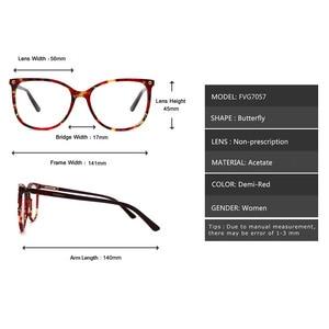 Image 5 - יד משקפיים מסגרות מכירה לוהטת ברור נשים אצטט אופנה ליידי Oversize גדול משקפי אדום דמי משקפיים FVG7057