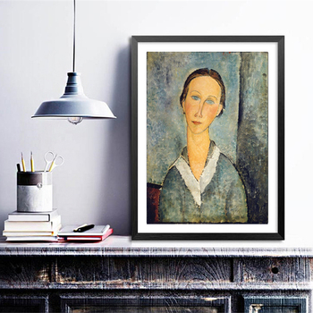 Antique Paint Amedeo Modigliani Famous Fine Art Canvas Art Prints Abstract Painting Wall Pictures Living Room Gallery Decor image