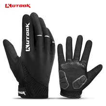 KUTOOK Full Finger Touch Screen Cycling Gloves Road MTB Mountain Bike Gloves Bicycle Outdoor Sport Gloves Breathable Equipment cheap NYLON Microfiber Stretch Spandex Synthetic Leather Gloves Mittens KF401 Washable