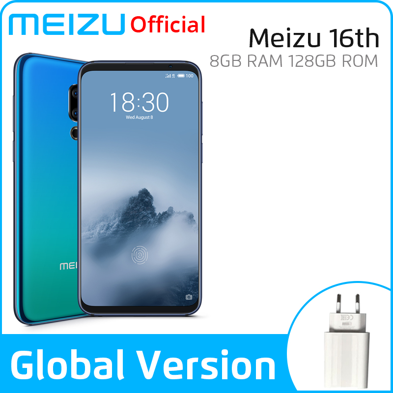 Meizu 16th SmartPhone 8GB 128GB Snapdragon 845 Octa Core 16 Th Android Phone Dual Rear Camera In-Screen Fingerprint