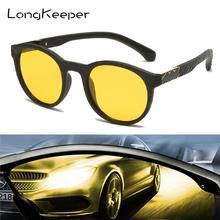 Sunglasses Men Goggles Night-Safety-Driving Classic Round UV400 Gafas Polarized Design