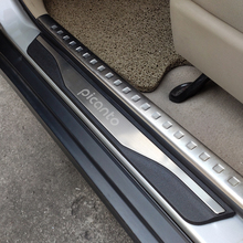 Auto Styling For Kia Picanto Accessories Stainless Steel Door sill Car Pedal Scuff Plates Protection Guards 2020 2015 2016 2021
