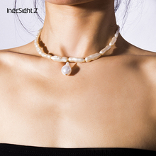 IngeSight.Z Bohemian Imitation Pearl Choker Necklace Collar Statement Short Clavicle Chain Pendant Necklace for Women Jewelry ingesight z bohemian multi layer irregular imitation pearl choker necklace collar statement long chain necklace women jewelry