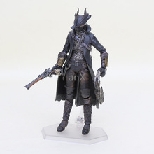 14cm Hot Games Bloodborne Figure Hunter Figma 367 PVC Action Figure Model Collection Toy Doll Xmas Gifts hot game wow demon hunter demon form figurine figure illidan stormrage statue pvc action figure resin collection model toy gifts