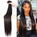 28 30 32 40 дюймов прямые бразильские человеческие удлиненные мелирование волоса 1 3 4 пряди натурального цвета необработанные волосы Remy оптом