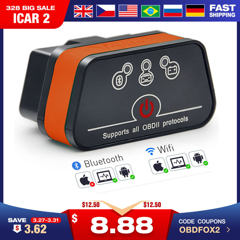 Scanner Code-Reader Auto-Diagnostic-Scanner Elm 327 Icar Bluetooth Android/pc/Ios 2-Wifi title=