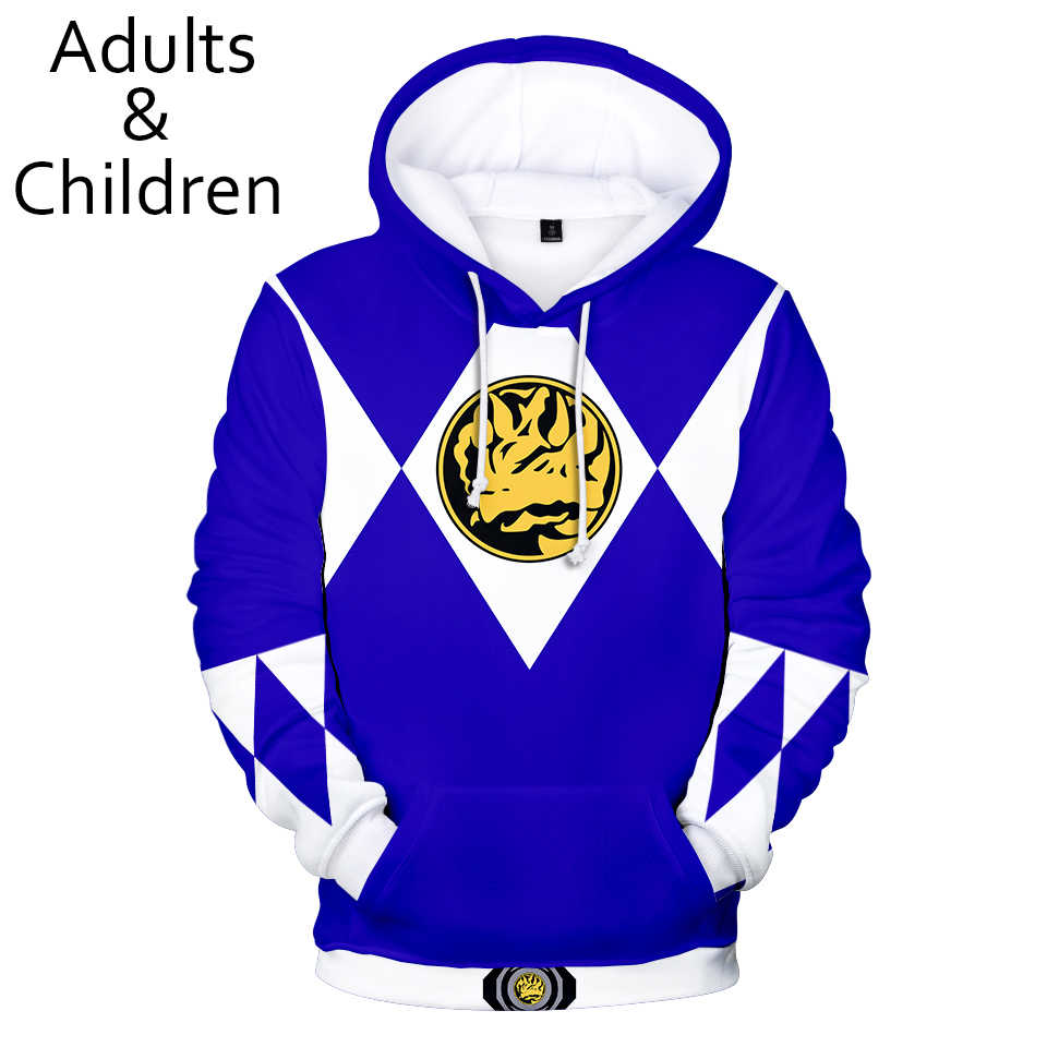 Power Rangers mannen/mannen 3D Hoodies kinderen Herfst Winter Casual Mode Hip Hop Jongen Trui Kinderen 3D Sweatshirt Active Wear