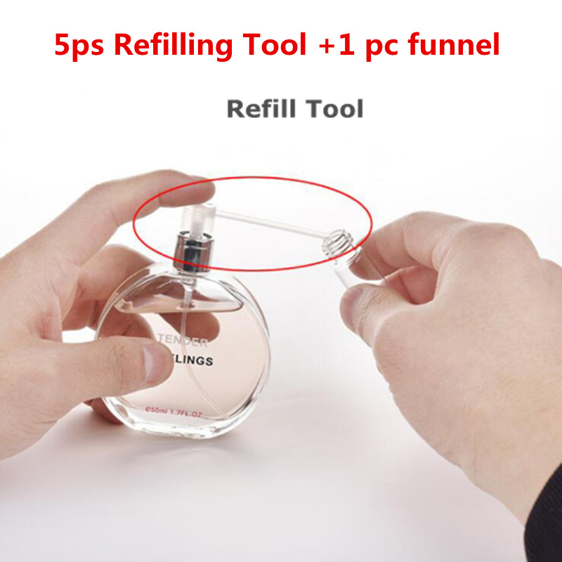 5 Pcs /lot Perfume Atomizer Refillable Bottle Refill Tools Perfume Dispenser Portable Recargable Perfume Tool
