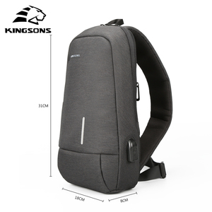 Image 3 - Kingsons New Small Backpack Leisure Travel Single Shoulder Backpack 7.9 inch Chest Backpack For Men Women Casual Crossbody Bag