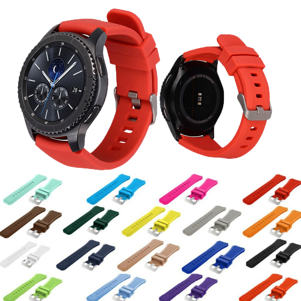 Gear S3 Frontier Strap For Samsung Galaxy Watch 46mm 42mm Band 22mm 20mm Silicone Strap Amazfit Gtr 47mm Bracelet Accessories