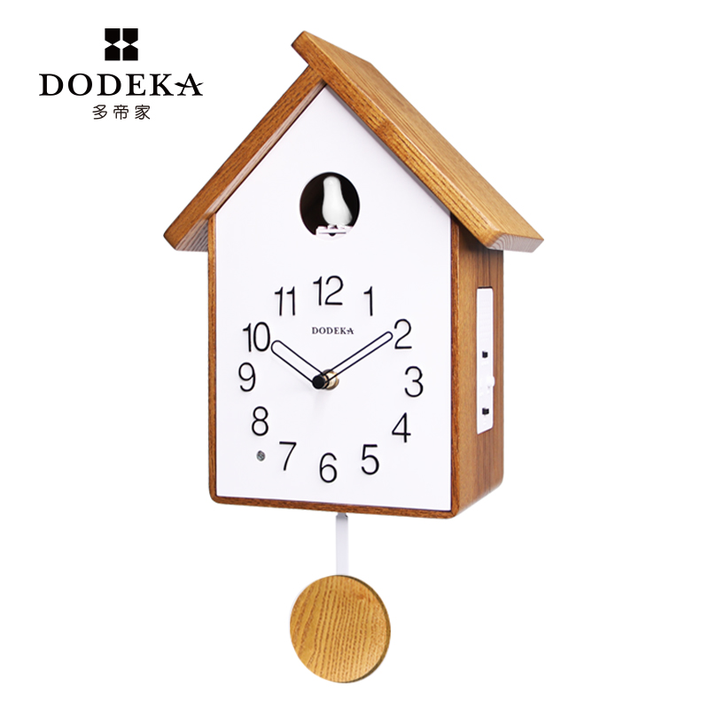 Pendulum Nordic Wall Clock Creative Wooden Modern Cuckoo Clock Stylish Wall Clocks Relogio Cuco Decoration Accessories AA50WC