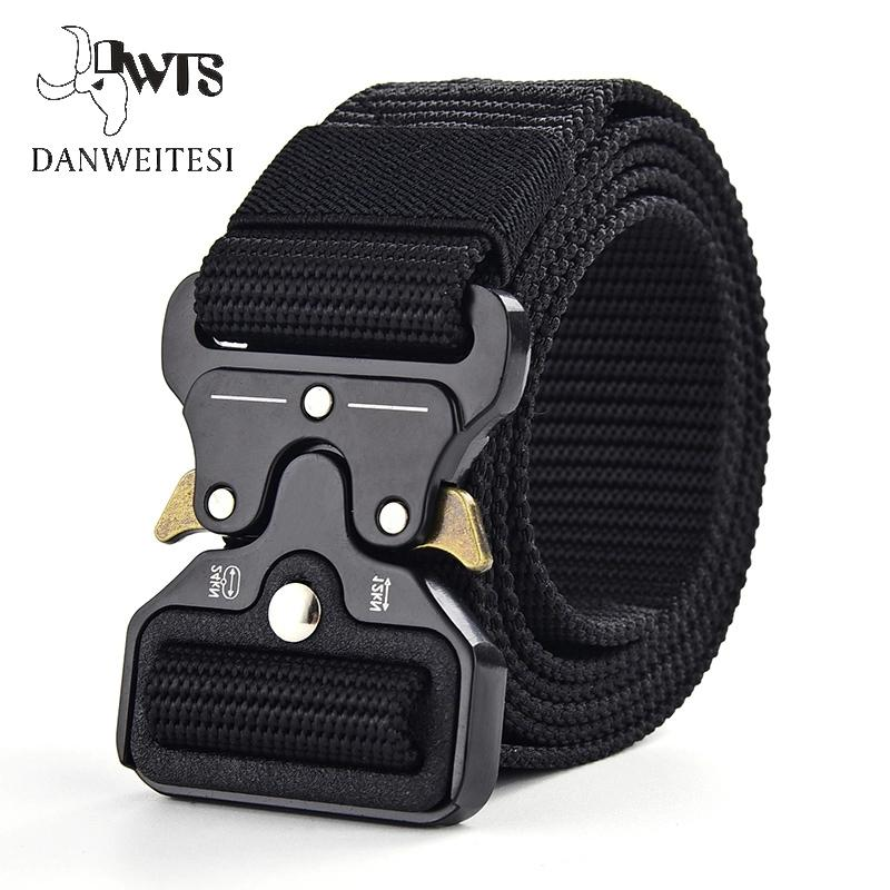 Men's Belt Army-Ceinture Military Nylon Outdoor Tactical Male Big-Size DWTS Canvas