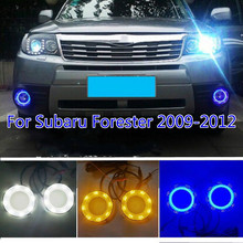 For Subaru Forester 2009 2010 2011 2012 Blue Turn Signal Relay Waterproof ABS Car DRL Lamp 12V LED Daytime Running Light wholesale abs daytime running lamp auto car drl front lamp for subaru forester fit for forester 2013