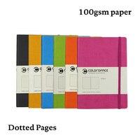 A5 bala caderno diário capa dura 100g pontilhada dot grid viagem bujo banda elástica planejador de viagem diário|Cadernos|   -