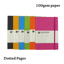 Classic A5 Dotted NotebookDot Grid Journal Hard Cover 100gsm Travel Elastic Band Travel Planner Diary