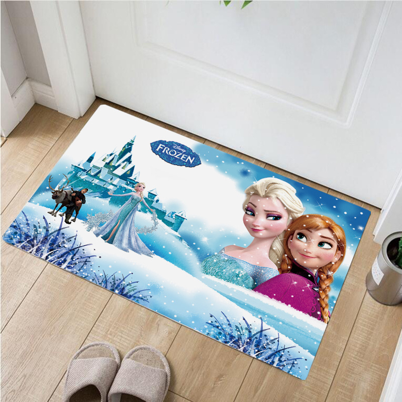 60x40cm Cartoon Frozen  Kitchen Mat Entrance Door Mat Home Decor Living Room Carpet Bedroom Mattress Non-slip Mat