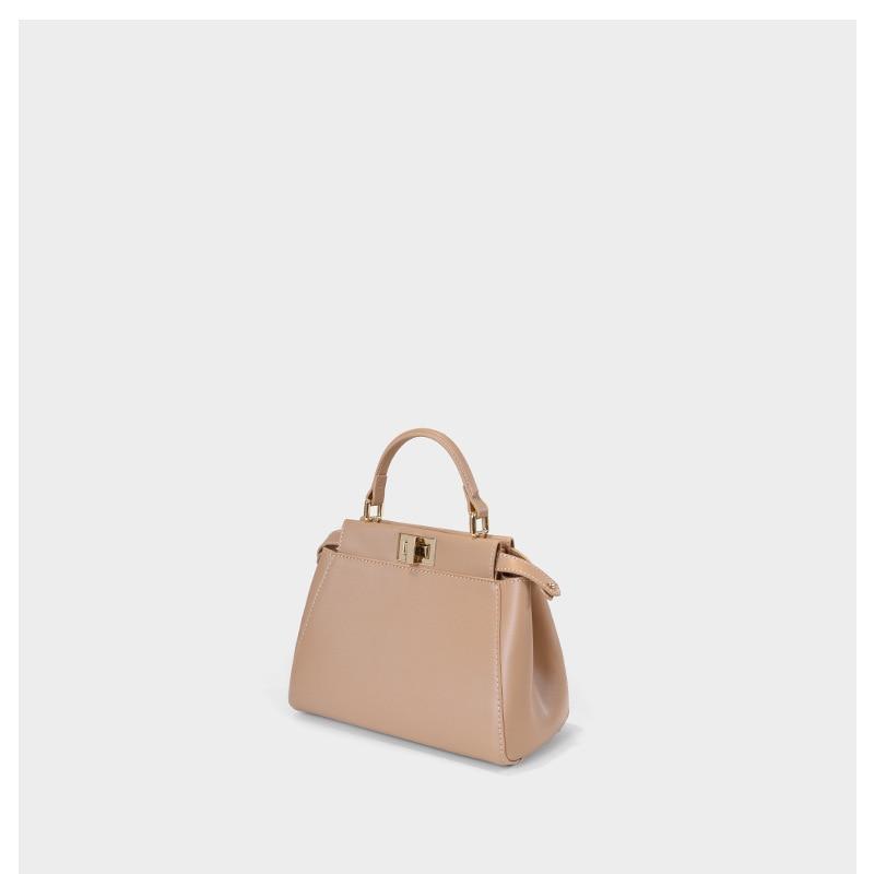 Genuine Leather Women's Bag 2020 New Fashion Messenger Bag Elegant Small Handbag Women's Bag