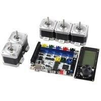 3D Printer Motherboard F5V1.2+Mini 12864 LCD+42 Stepper Motor x5 Kit Ramps1.4|Peças e acessórios em 3D| |  -