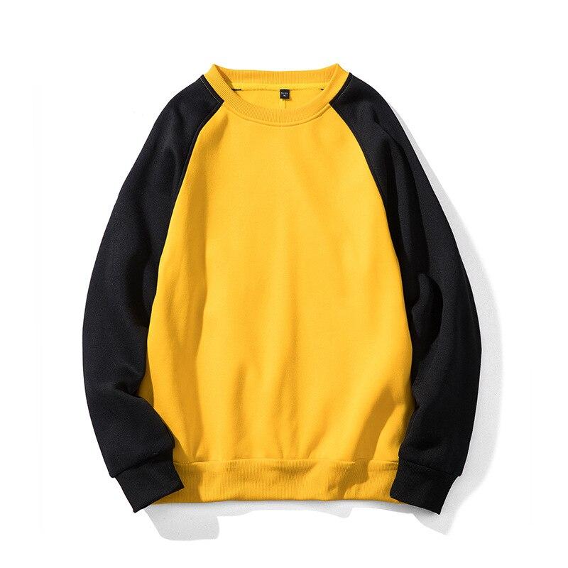 2020 NEW Yellow Black Winter Men Hoodies Sweatshirt / Men Hip Hop Casual Cotton Tracksuit Sweat Hoodies