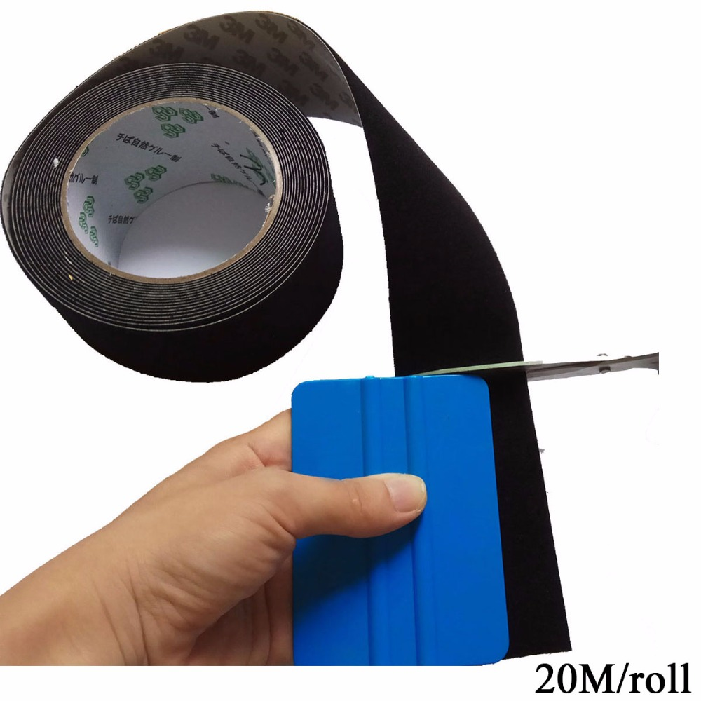 CNGZSY 20M*4.8cm Felt Tape Replacement Cloth For Vinyl Wrap Squeegee With Self Adhesive Glue Car Maintenance Tools Parts A08-20M