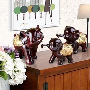 Chinese Style Feng Shui Elephant Living Room Wine Cabinet TV Cabinet Decoration Creative Home Porch Decorations  Furnishings