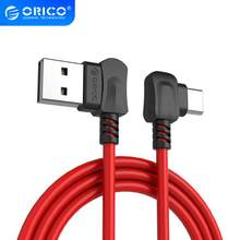ORICO doblado en ángulo recto para teléfonos USB tipo C Cable de carga USB para Samsung Galaxy S8 Note 8, OnePlus 2, para Xiaomi 4C USB-C